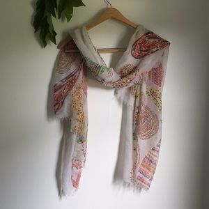 Accessories - Colorful abstract bohemian spring scarf